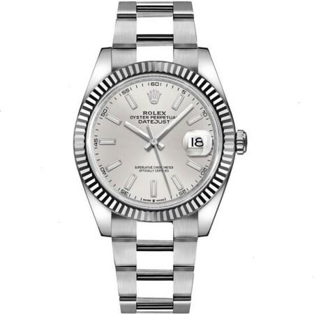 Replica Rolex Datejust 41 Silver Dial 126334 - Rolex Clone Watches