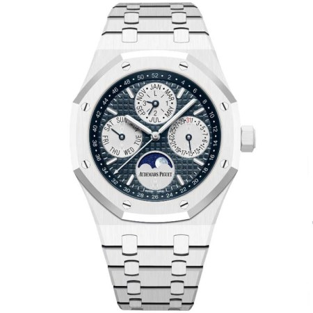 Replica Audemars Piguet Royal Oak White Ceramic Perpetual Calendar 26579CB.OO.1225CB.01 - Audemars Piguet Clone Watches