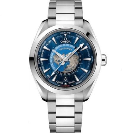 Replica Omega Seamaster Aqua Terra 150M GMT Worldtimer 220.10.43.22.03.001 - Omega Clone Watches