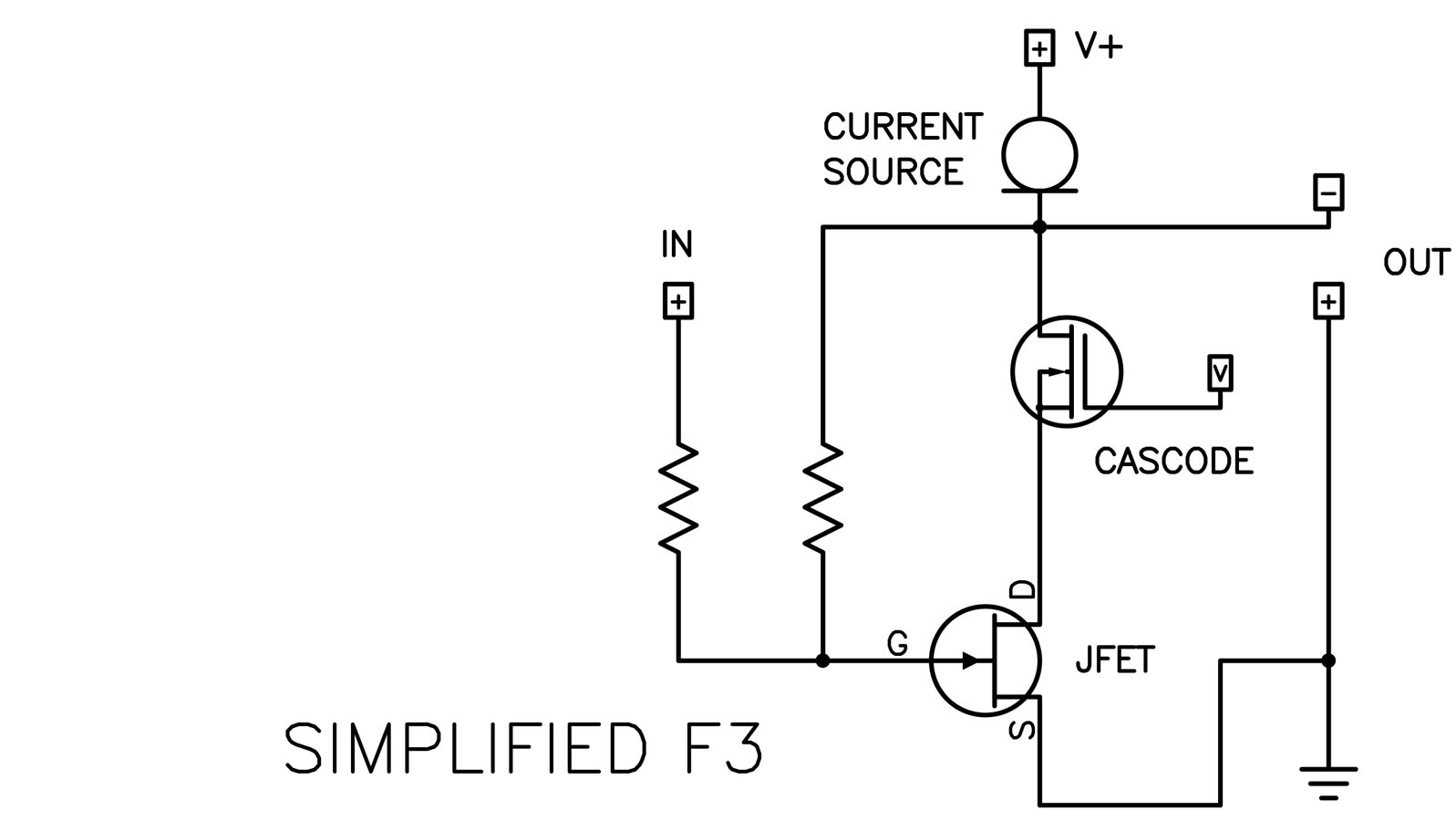 hight resolution of simple amplifier diagram