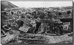 German barricades on the Western Front