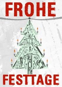 Weihnachtskarte des Fischereihafen-Rennens