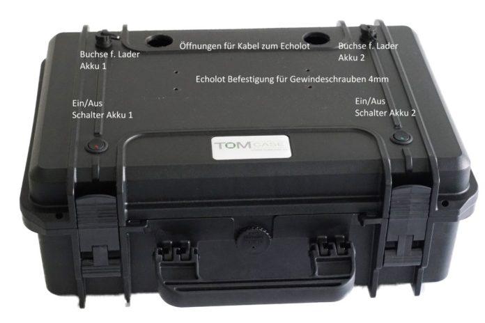 Abb. 6 Garmin LiveScope Praxistest, Echolotbox von oben Echolot