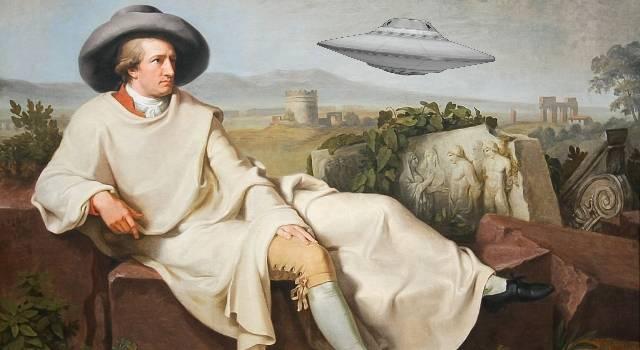 """Johann Wolfgang von Goethe und das """"UFO"""": Wurde er als Teenager Zeuge einer UFO-Landung? Doch das war nicht das einzige unheimliche Phänomen in seinem Leben!"""