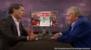 TV-Talk mit Erich von Däniken im Schweitzer Fernsehen (Bild: Screenshot srf.ch/sendungen/schawinski)