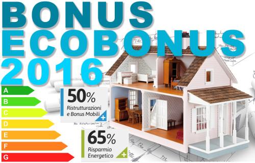 BONUS E AGEVOLAZIONI FISCALI 2016