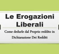 EROGAZIONE LIBERALE E DEDUCIBILITA' DAL REDDITO
