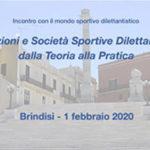"""Ancora pochi posti a Brindisi per il CONVEGNO di Fiscosport """"Associazioni e Società Sportive Dilettantistiche: dalla Teoria alla Pratica"""""""