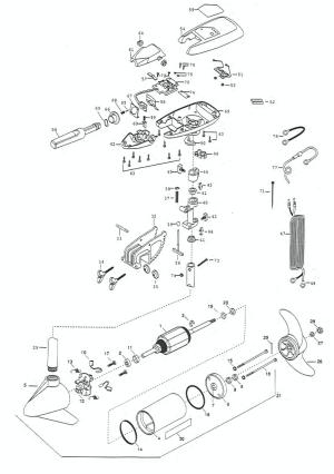 Minn Kota Maxxum 65BT (42 inch) Parts  2000 from FISH307