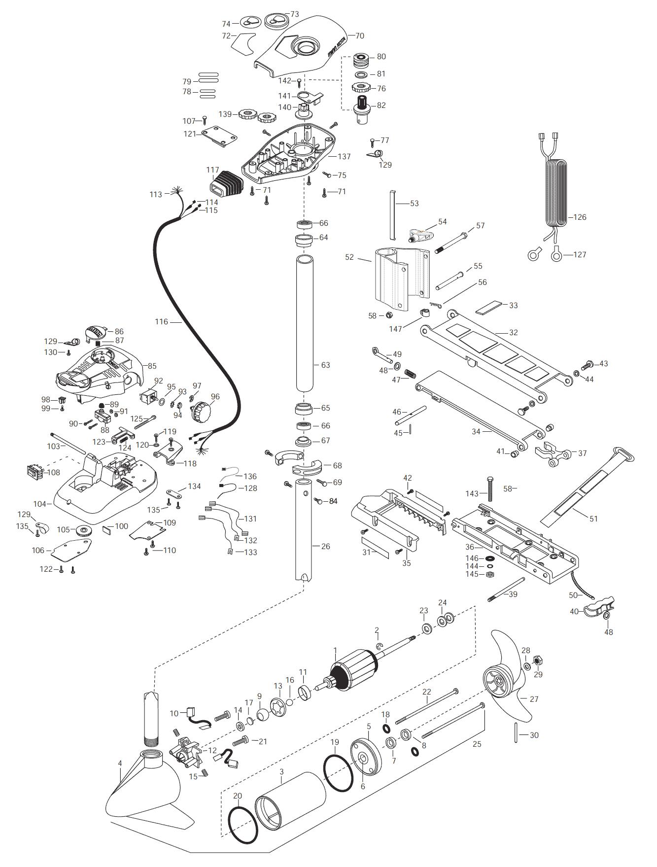 minn kota fortrex 80 parts diagram kicker solo baric l5 wiring all terrain 40 42 inch 2003 from