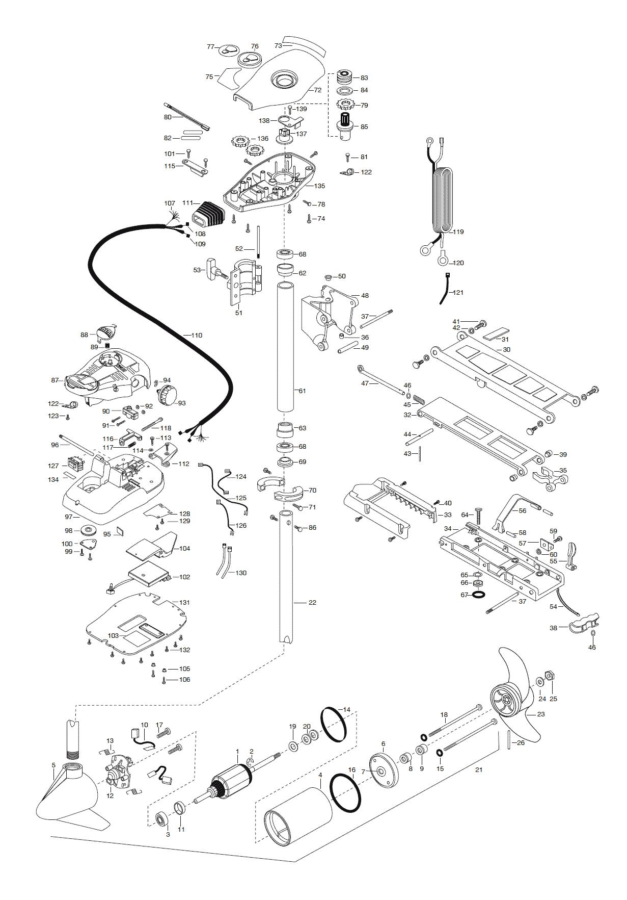 Minn Kota 55 Parts | Wiring Diagram Database