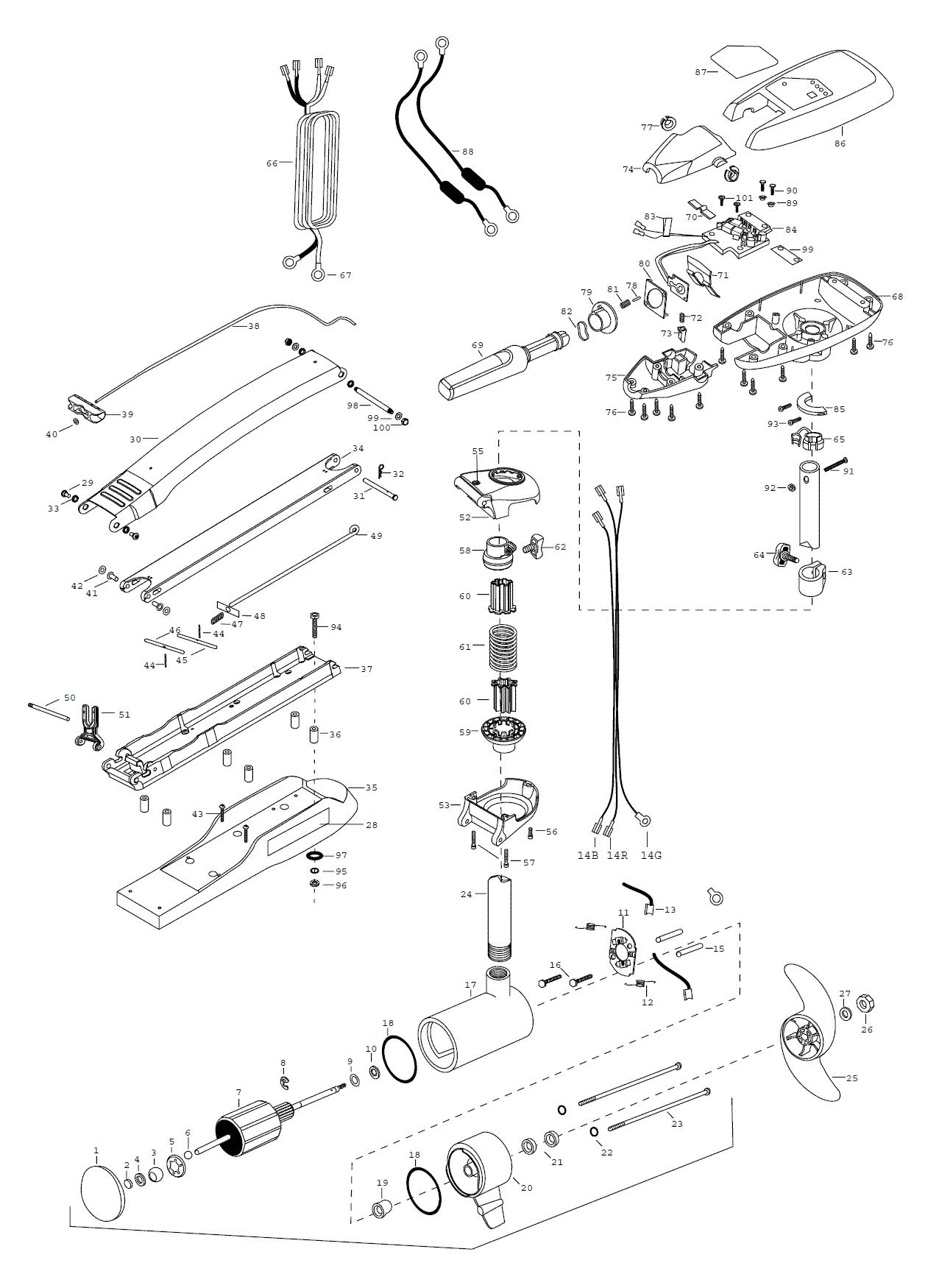 Minn Kota Maxxum 101 Hand Control Parts