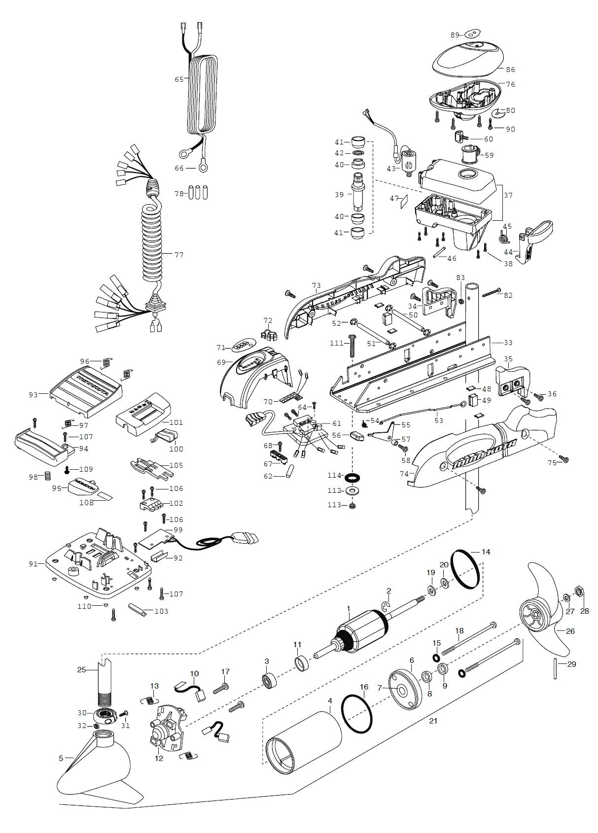 Minn Kota Powerdrive 64 Pontoon Parts