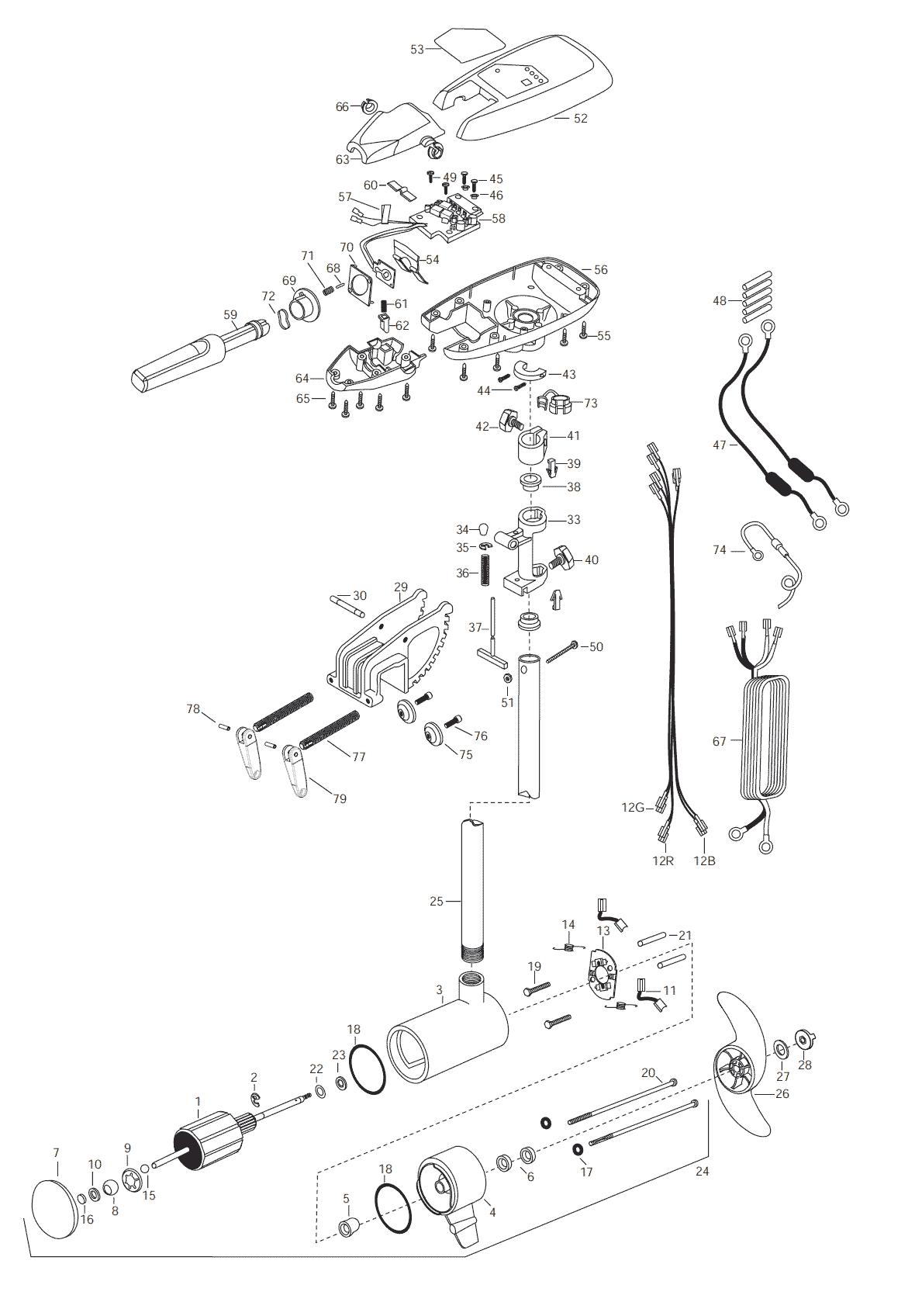 Minn Kota Riptide 101s Parts