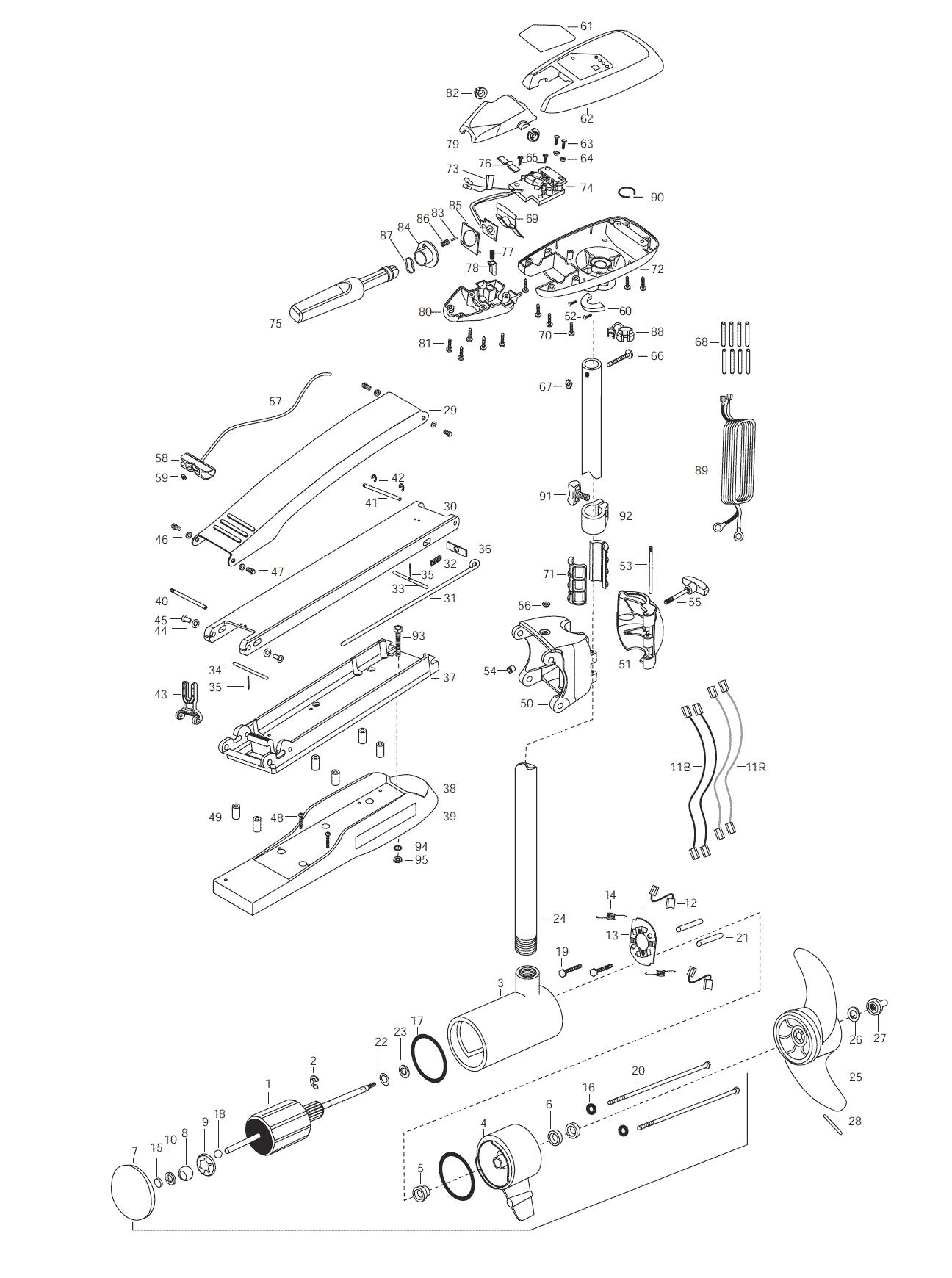 Minn Kota Riptide 74 Latch And Door Parts