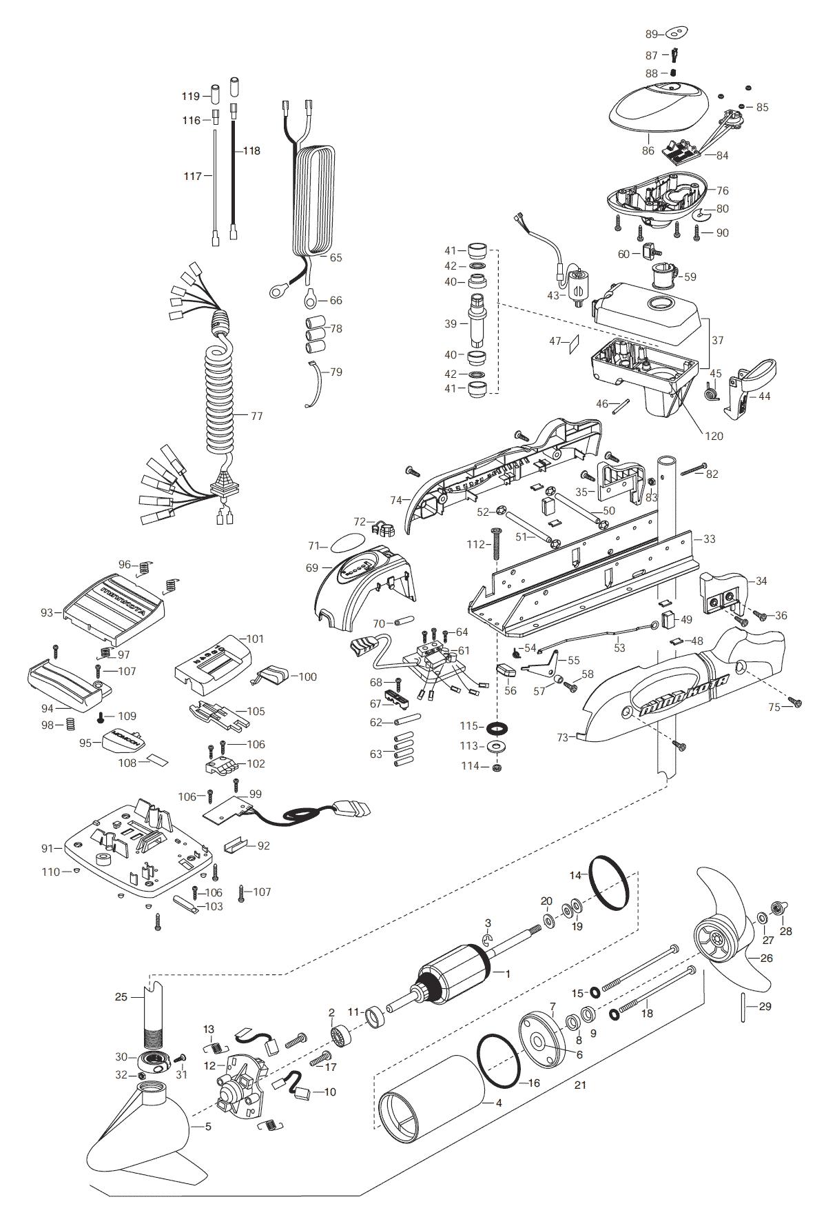 minn kota fortrex 80 parts diagram detailed neuron riptide autopilot 65 54 inch 2003 from