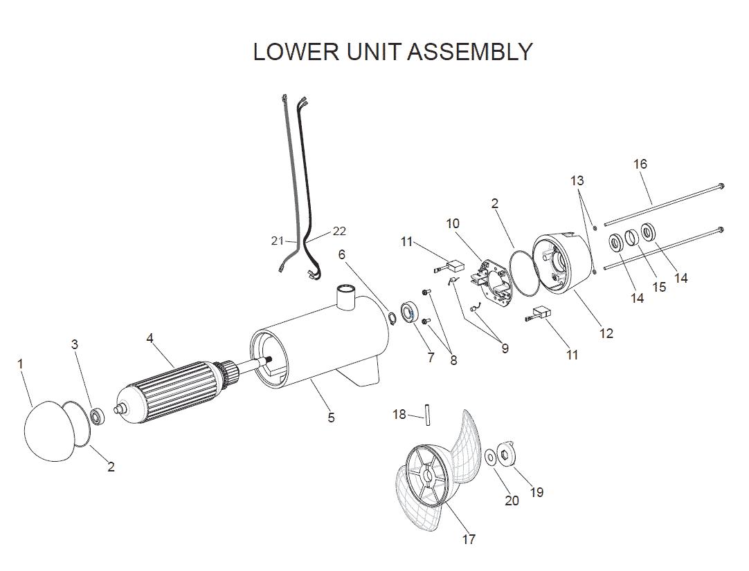 hight resolution of e drive lower unit assembly parts 2003 rh fish307 com minn kota deckhand 40 diagram minn