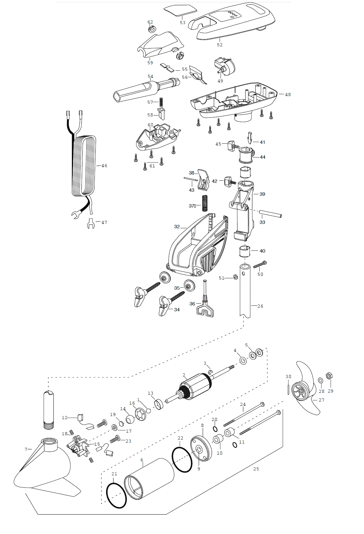 minn kota fortrex 80 parts diagram 12 volt coil wiring turbo 90 2003 from fish307