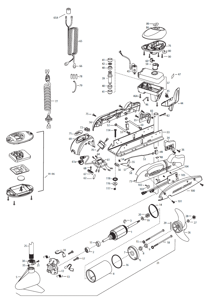 2015_MK_Riptide70SPPowerDrive minn kota power drive wiring diagram  at edmiracle.co