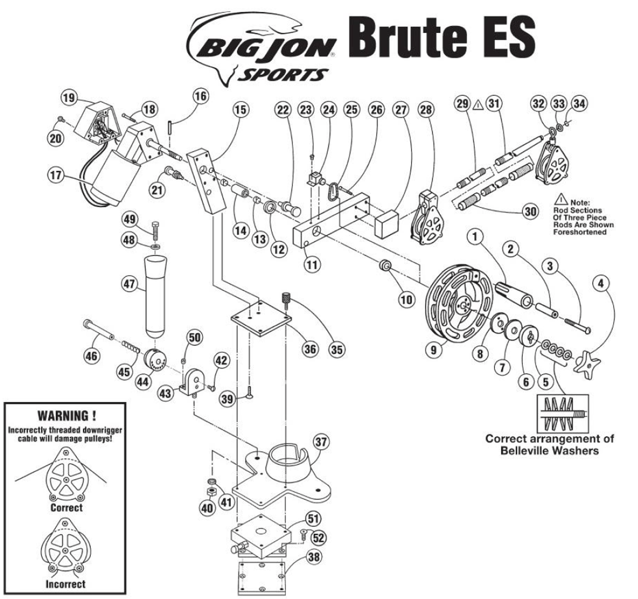 Order Big Jon Brute Es Electric Downrigger Parts Online At