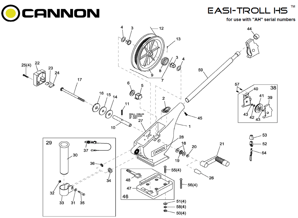 Order Cannon Easi-Troll HS Parts Online at FISH307.com