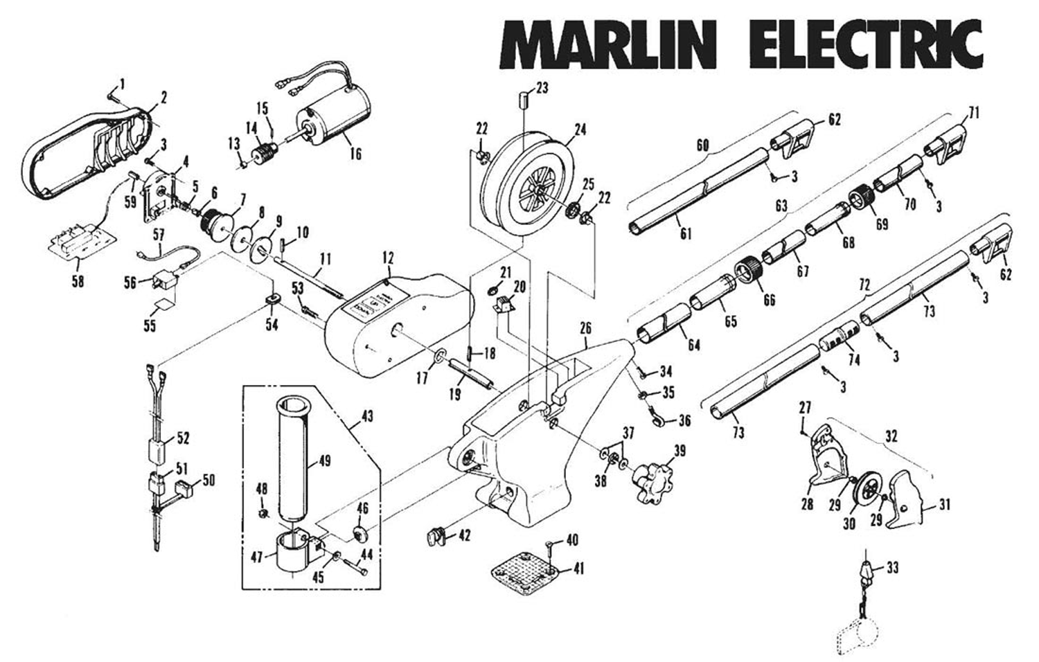 Order Cannon Marlin Electric Downrigger Parts From Fish307