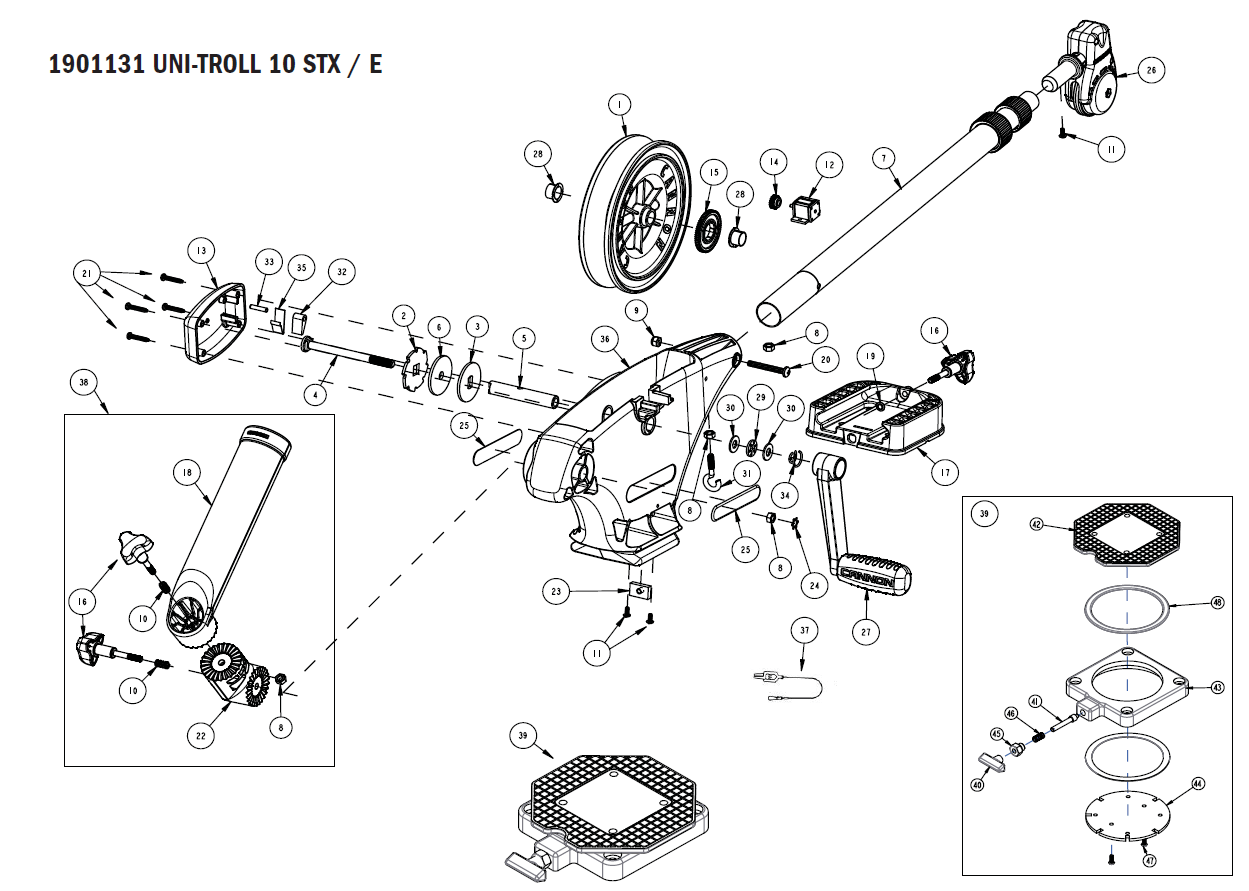 Order Cannon Metric Uni-Troll 10 STX Downrigger Parts at