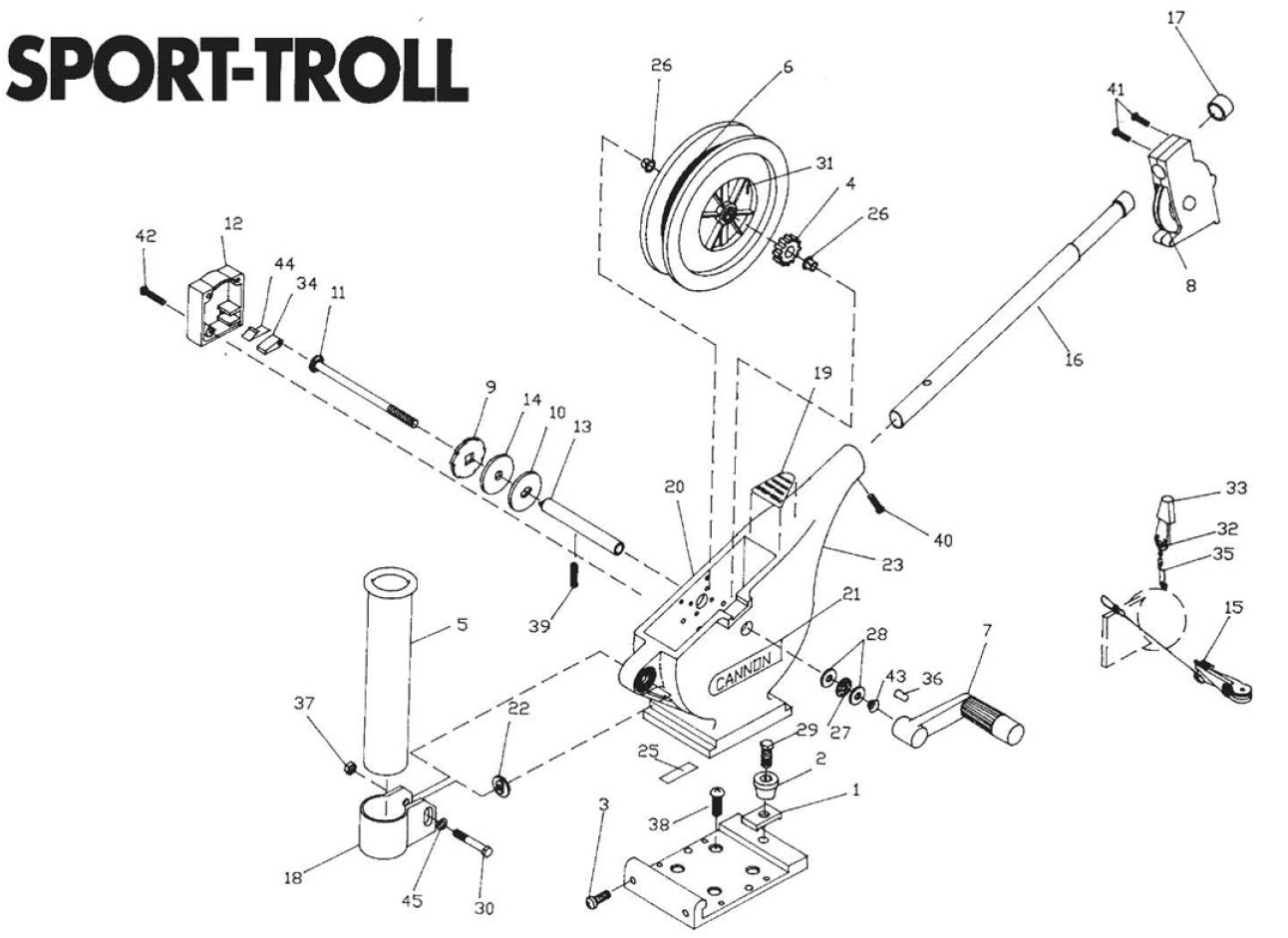 Order Cannon Sport-Troll Parts Online at FISH307.com
