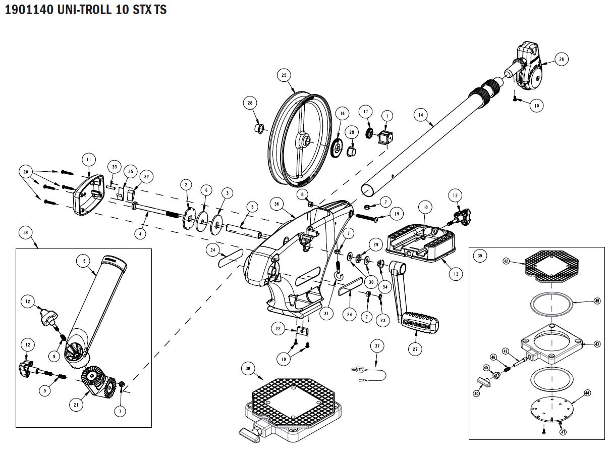 Order Cannon Uni-Troll 10 STX TS manual downrigger parts