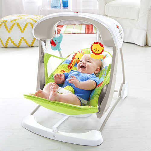 calming vibrations baby chair twin high chairs rainforest friends take-along swing & seat