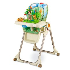 Fisher Price High Chair Seat Best Infant Beach Rainforest Healthy Care Chairs W3066
