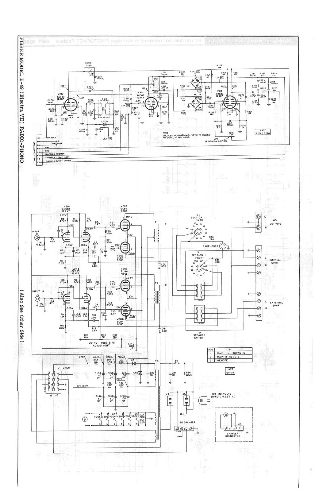 hight resolution of custom electra vii e 49 schematic