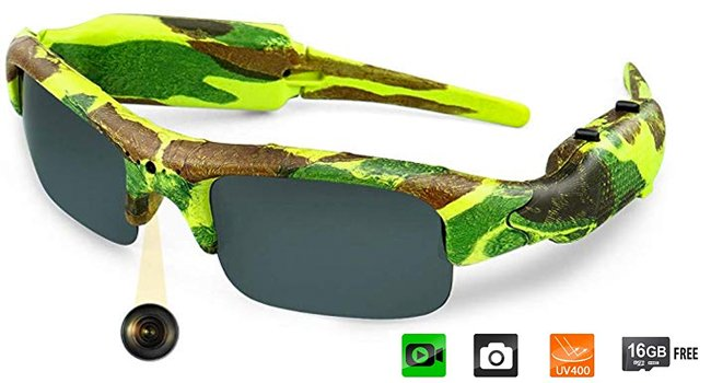 Toughsty Video Camera Camo Polarized Fishing Sunglasses