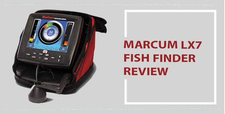 Marcum LX 7 Review : 8″ LCD Dual Beam Digital Sonar System