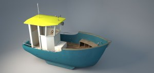 Fish for Life blog renderings with vray of Manolins boat