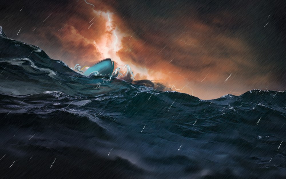 Fish for Life – concept art stormy night