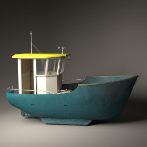 Fish for Life. Boat texturing & shading