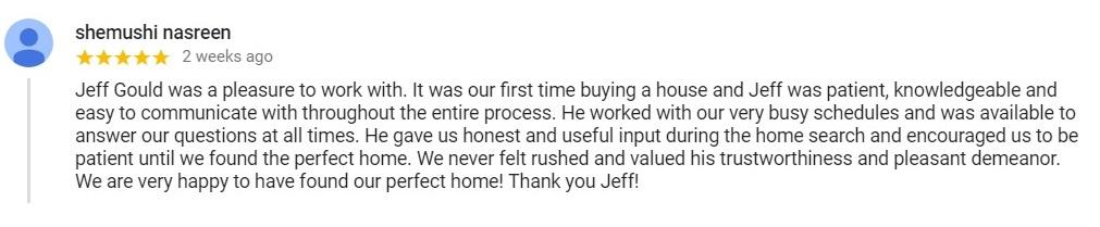 Jeffrey Gould Testimonal