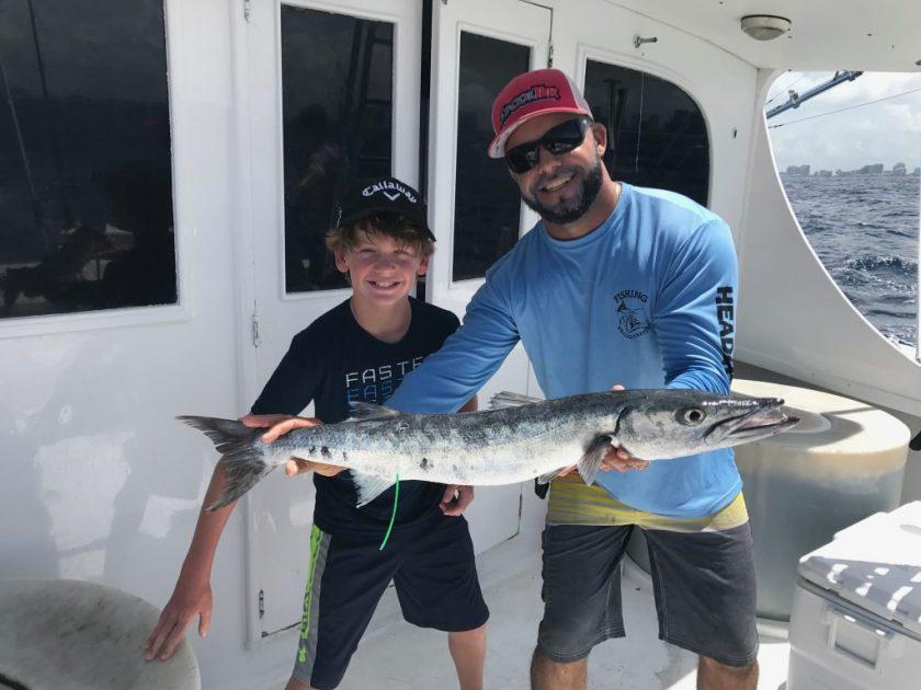 Lucky angler caught this big barracuda.