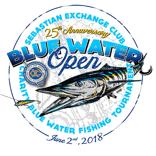 Blue Water Open annual charity fishing tournament, charity fishing tournament sponsored by Exchange Club of Sebastian, charity fundraiser for children of sebastian, one of the most popular fishing tournaments in Sebastian
