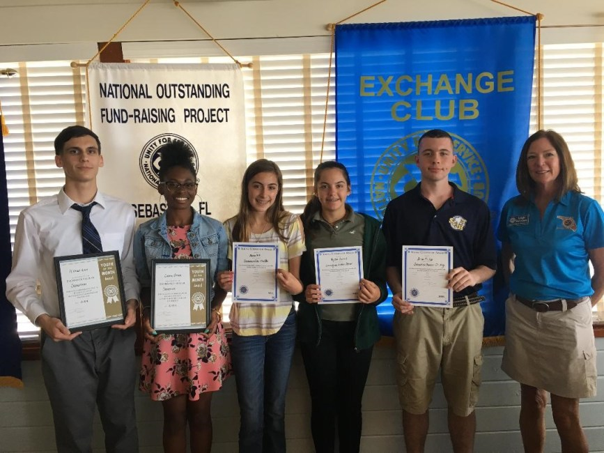 Sebastian High School students honored by Exchange Club of Sebastian,