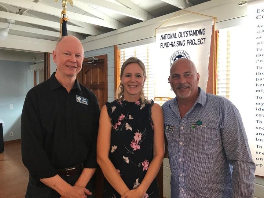 Team Orca, Sebastian florida, Exchange Club presents money