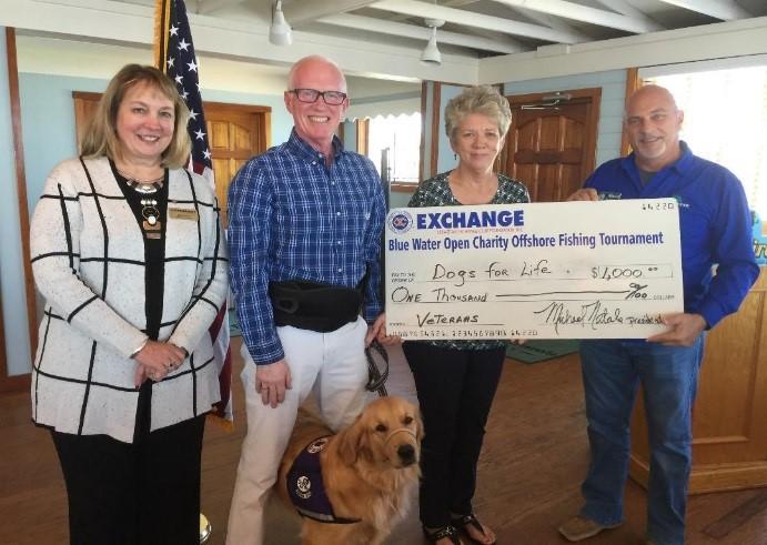 Exchange Club Sbastian Donates to Dogs for Life