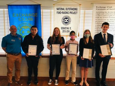 Students of the month honored by Exchange Club of Sebastian
