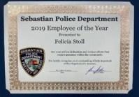 Sebastian Police employee of the year 2019