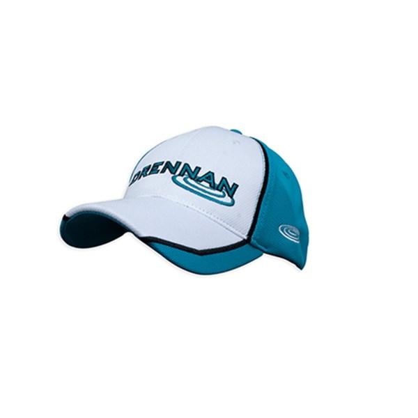 Cappellino con visiera White/Aqua DRENNAN