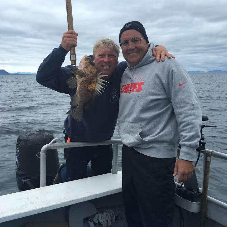 Dave Toub fishing in Kodiak Island Alaska with Fish N' Chips Charters