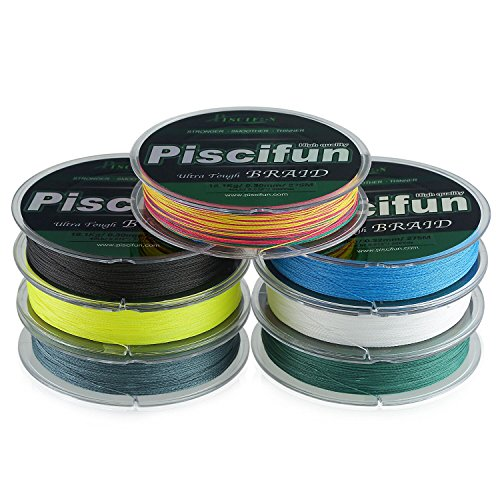 Piscifun Braided Fishing Line 150yards 300yards 547yards