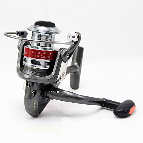 Tact-Pro Open Face Spinning Fishing Reel Baitrunner, Metal Material with 5.0:1 Gear Ratio 10 Ball Bearings, Freshwater/Saltwater