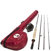 Leland Rod Co. Sonoma Starter Trout Fly Fishing Combo (Includes: Rod, Reel, Line, and Leader)